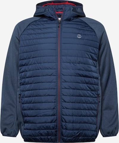 Jack & Jones Plus Winterjas in de kleur Navy, Productweergave