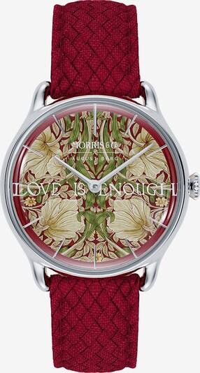August Berg Uhr 'MORRIS & CO Silver Red Perlon 30mm' in rot, Produktansicht