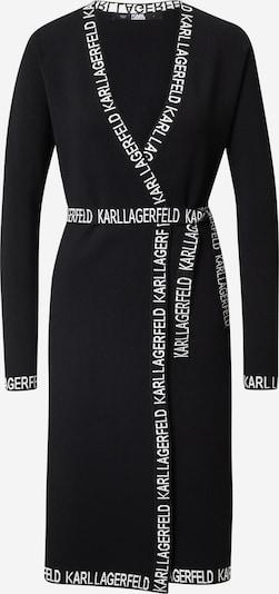 Karl Lagerfeld Šaty - čierna / biela: Pohľad spredu