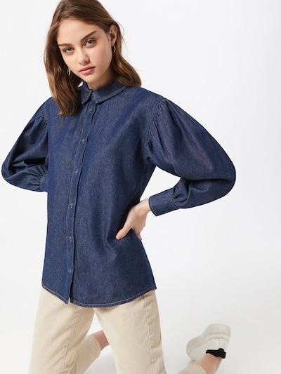 NU-IN Bluse i mørkeblå, Modelvisning