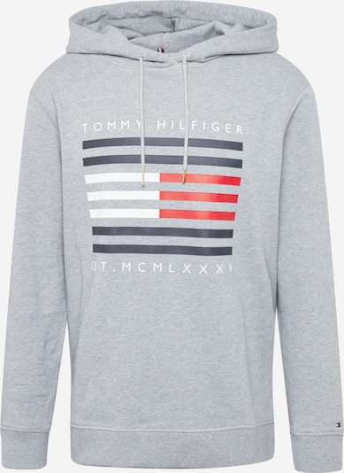 Megztinis be užsegimo iš Tommy Hilfiger Curve , spalva - tamsiai mėlyna / margai pilka / raudona / balta, Prekių apžvalga
