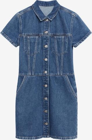 MANGO Blusenkleid 'Paty' in Blau