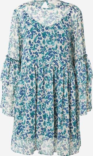 Guido Maria Kretschmer Collection Kleid 'Iris' in beige / blau / lila, Produktansicht