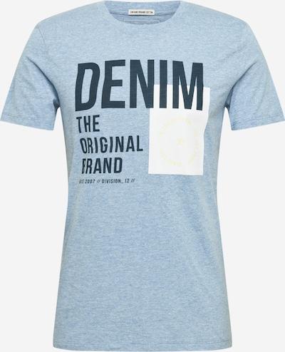 TOM TAILOR DENIM T-Shirt in blaumeliert / gelb / schwarz / weiß, Produktansicht
