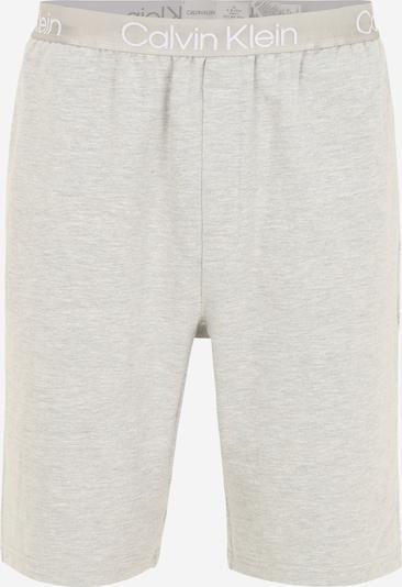 Calvin Klein Underwear Pyjamahose in grau / weiß: Frontalansicht