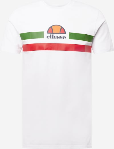 ELLESSE Shirt 'Aprela' in de kleur Groen / Sinaasappel / Rood / Wit, Productweergave