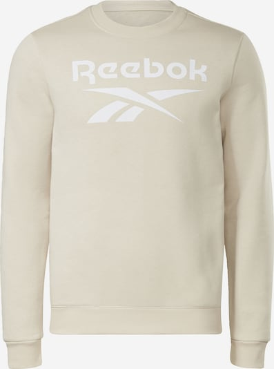 Reebok Sport Sportsweatshirt in beige / weiß, Produktansicht