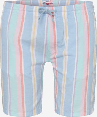 Pantaloni Tommy Jeans pe albastru fumuriu / galben muștar / mov liliachiu / portocaliu pastel / roz, Vizualizare produs