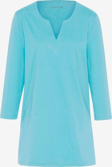 Green Cotton 3/4-Arm-Shirt Shirt in blau, Produktansicht