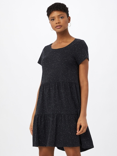 ICHI Kleid in nachtblau / weiß, Modelansicht