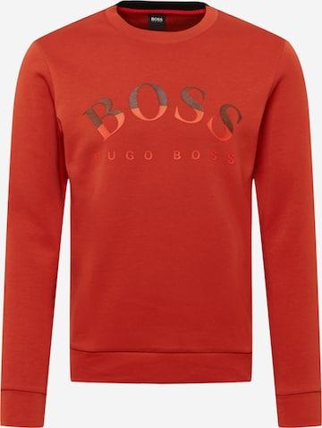 BOSS ATHLEISURE Sweatshirt 'Salbo' in Rot
