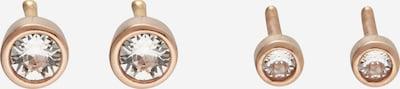 ELLI Boucles d'oreilles 'Basic' en or rose / rose ancienne, Vue avec produit