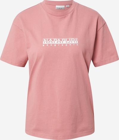 Tricou NAPAPIJRI pe roz / alb, Vizualizare produs