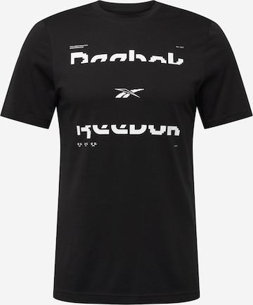 Reebok Sport Sportshirt in Schwarz