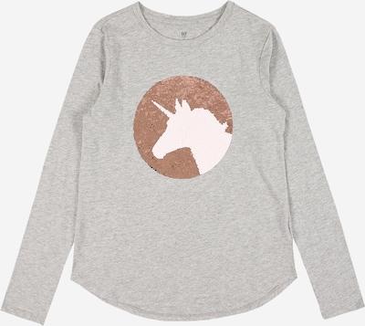 GAP T-Shirt en marron / gris chiné / blanc, Vue avec produit