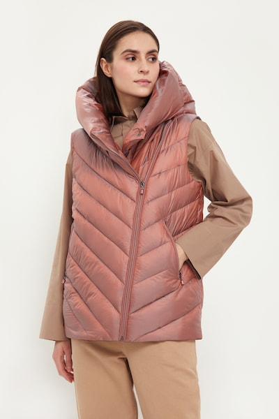 Finn Flare Steppweste in pink, Modelansicht