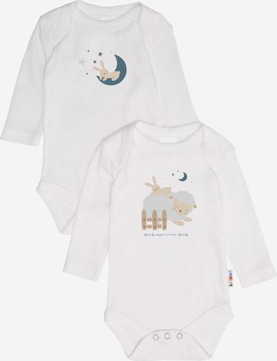 """LILIPUT Langarmbody (2er Pack) weiß """"Hase und Mond / Hase und Schaf"""" in weiß, Produktansicht"""