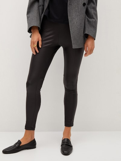 MANGO Leggings 'Bangseam' in schwarz, Modelansicht