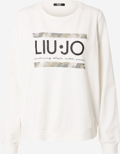 LIU JO JEANS Shirt in grün / weiß, Produktansicht