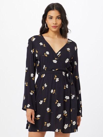 BILLABONG Kleid in dunkelgelb / schwarz / weiß, Modelansicht