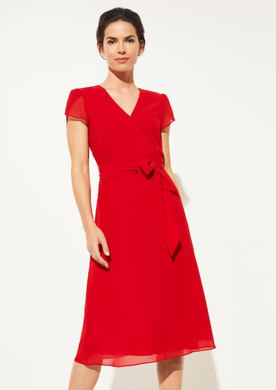 COMMA Kleid in rot, Modelansicht