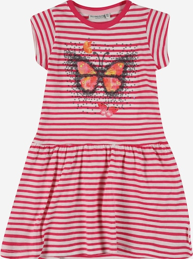 SALT AND PEPPER Kleid in orange / magenta / schwarz / weiß, Produktansicht