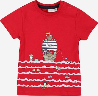 SALT AND PEPPER T-Shirt 'Ahoy' en bleu marine / noisette / jaune / rouge / blanc, Vue avec produit