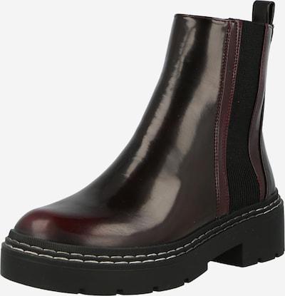 River Island Chelsea Boots 'QUINCY' en lie de vin, Vue avec produit