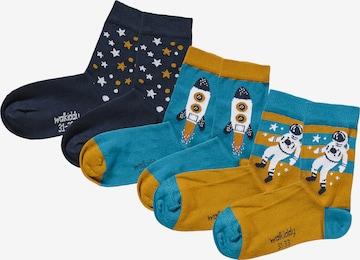 Walkiddy Socks 'SPACE' in Blue