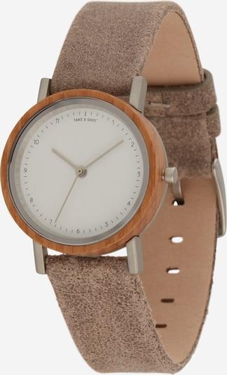TAKE A SHOT Analoog horloge 'Liv' in de kleur Lichtbruin / Wit, Productweergave