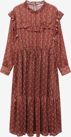VIOLETA by Mango Kleid in rot / orangerot / weiß, Produktansicht