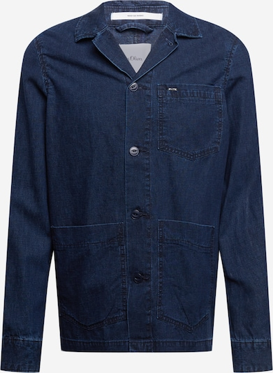 s.Oliver BLACK LABEL Jacke in dunkelblau, Produktansicht