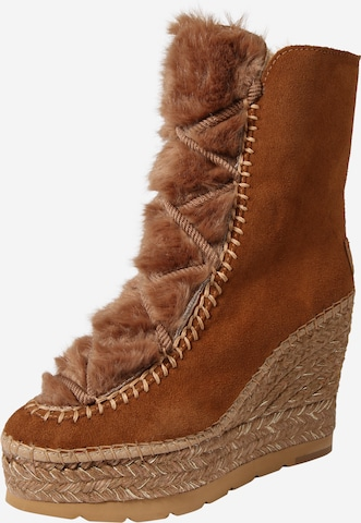 Vidorreta Lace-Up Ankle Boots 'Serraje' in Brown