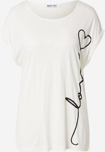 ABOUT YOU T-shirt 'Maja' en noir / blanc, Vue avec produit