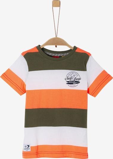 s.Oliver T-Shirt in khaki / orange / weiß, Produktansicht