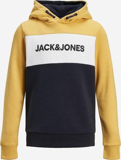 Jack & Jones Junior Pull-over en jaune / noir / blanc, Vue avec produit
