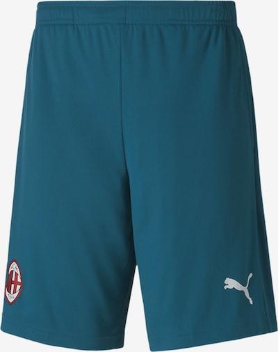 PUMA Sportbroek 'AC Mailand' in de kleur Petrol / Rood / Wit, Productweergave
