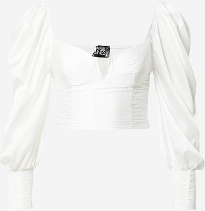Parallel Lines Shirt in weiß, Produktansicht