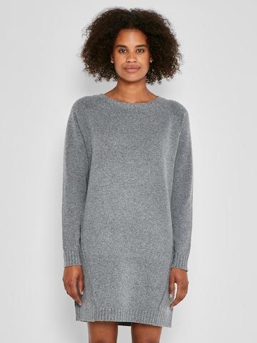 Noisy may Gebreide jurk 'IAN' in Grijs