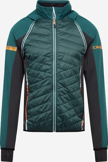 CMP Outdoorjas in de kleur Smaragd / Zwart, Productweergave