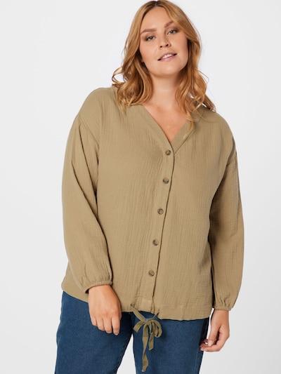 Zizzi Bluse 'MAMARA' in khaki, Modelansicht