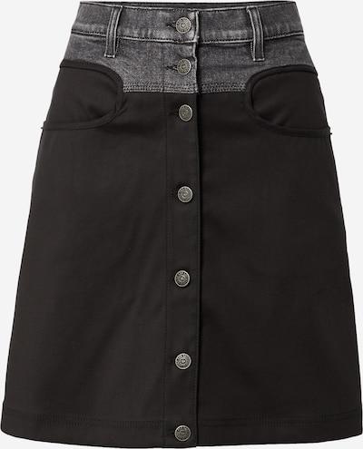 DIESEL Skirt 'O-LIA' in Grey denim / Black, Item view