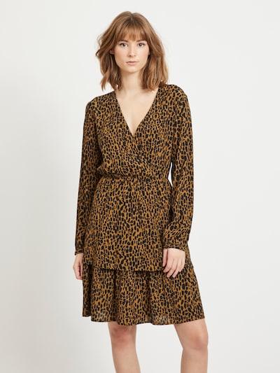 VILA Kleid 'Viska' in karamell / schwarz, Modelansicht