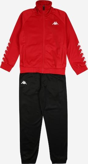 KAPPA Jogginganzug 'TILL' in rot / schwarz, Produktansicht