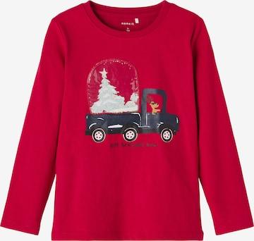 T-Shirt 'Rochristmas' NAME IT en rouge