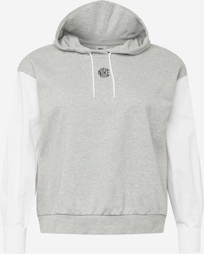 Megztinis be užsegimo iš Nike Sportswear, spalva – šviesiai pilka / juoda / balta, Prekių apžvalga