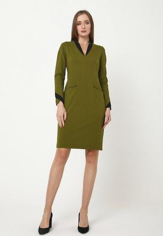 Madam-T Sheath Dress 'KRUTONA' in Green
