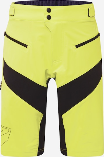 Pantaloni sport ZIENER pe verde limetă / negru, Vizualizare produs
