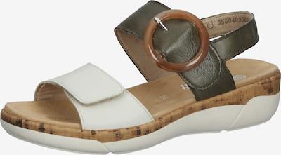 REMONTE Sandale in dunkelgrün / weiß, Produktansicht