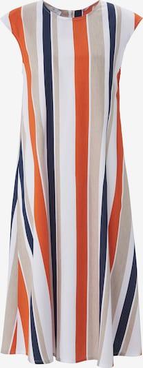 Peter Hahn Kleid in beige / blau / orange, Produktansicht